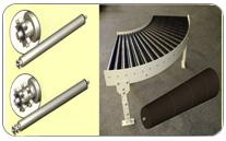 Rodillos fabricados para transportadores de gravedad