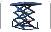 Mesa Elevadora de triple tijera para conexión de Pisos. Haga click para ampliar.
