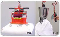Manipulador de sacos y bolsas con sistema de ventosa o pinzas para sacos de rafia o porosos