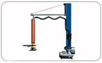 Conjunto motor / columna / brazo / equipo de vacío. Haga click para ampliar.