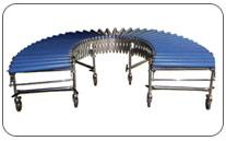 Transportador extenible de rodillos. Haga click para ampliar.