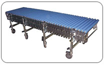 Transportador extensible de rodillos