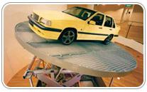 Mesa elevadora de tijera especial para vehículos. Haga click para ampliar.