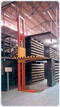 Elevador de columna sin cerramientos