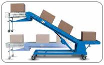 Transportador telescopico para carga de camión / contenedor. Haga click para ampliar.