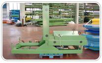 Volteador de bobinas 90º 3000kgs de capacidad. Haga click para ampliar.
