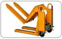 Volteador Inclinador de palets o contenedores (75º y 750 kgs de capacidad. Haga click para ampliar.