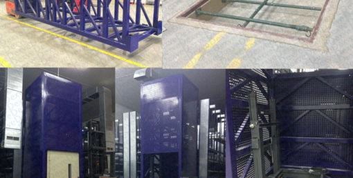 Elevador de cargas con estructura autoportante