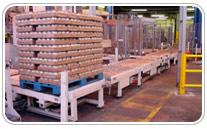Transportador de palets para industria