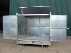 Contenedor metálico para bidones y residuos