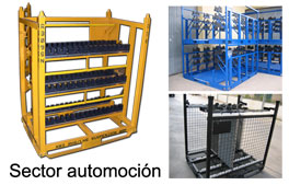 Contenedor metálico para el sector automoción