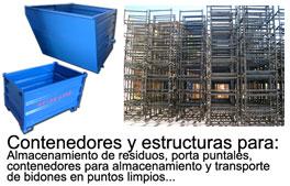 Contenedores metálicos y estructuras