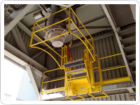 Pasarela de acceso para cisternas
