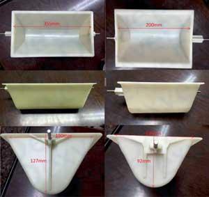 Cangilones de 1,4 y 4,8 litros
